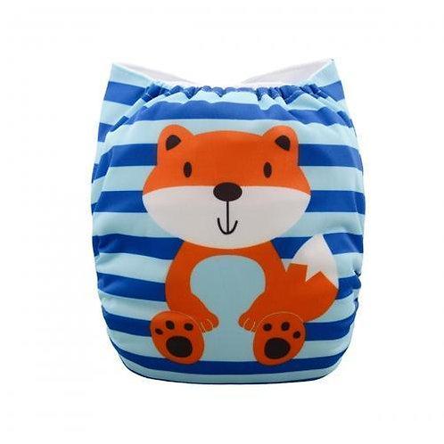 ALVA OS Pocket Diaper - Striped Fox