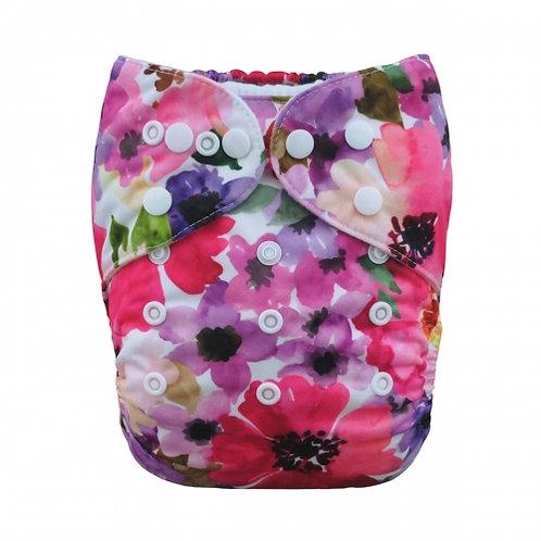 ALVA OS Pocket Diaper - Pink Bloom
