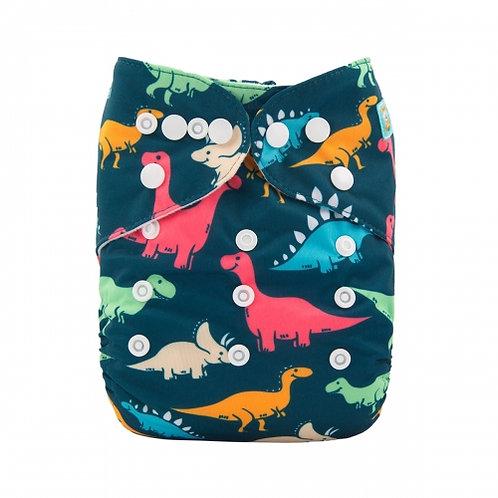 ALVA OS Pocket Diaper - Pop Dinosaurs