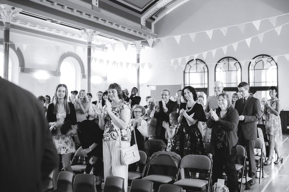 bunting church wedding