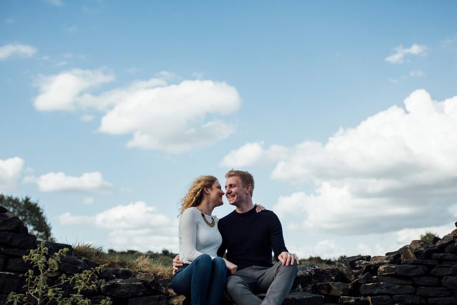 wedding photographer on the pennine moors