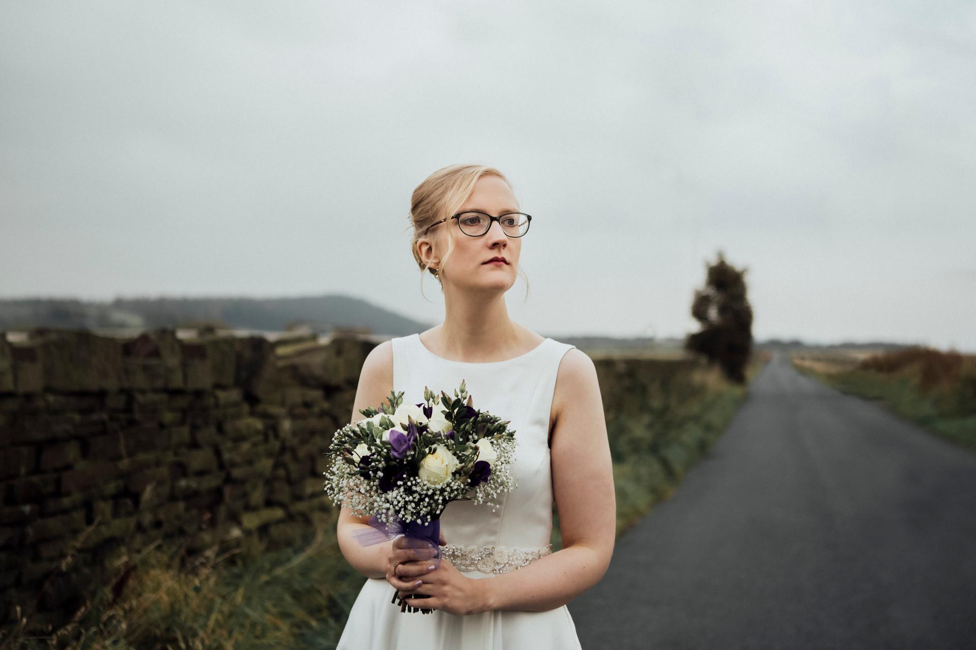 bride portrait meltham wedding photography