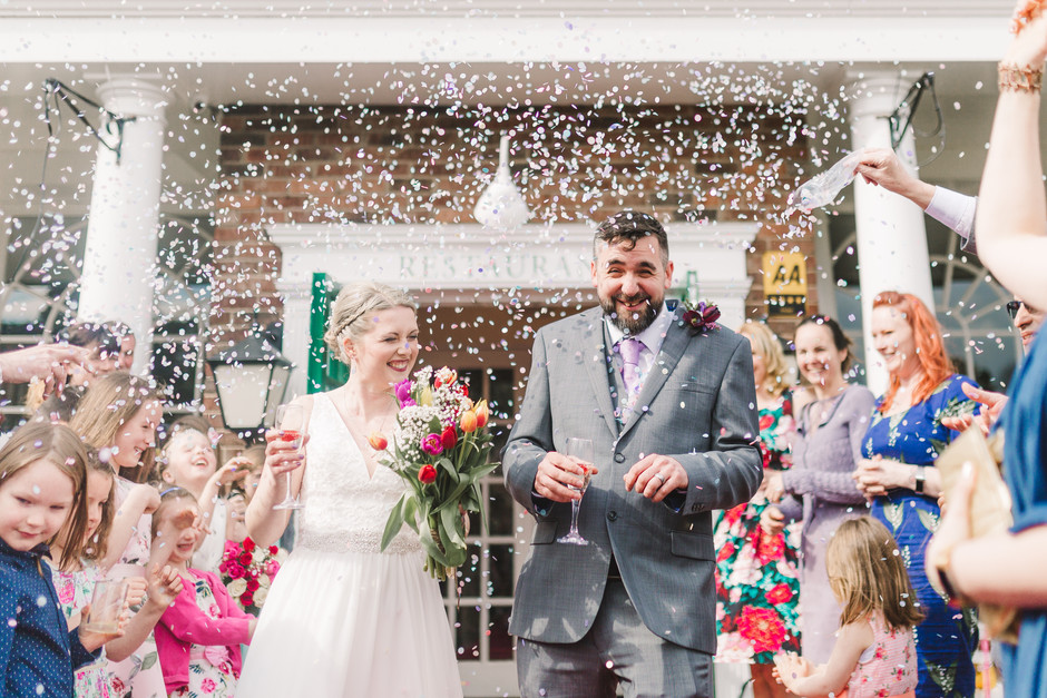 wedding photography at the bridge inn wetherby