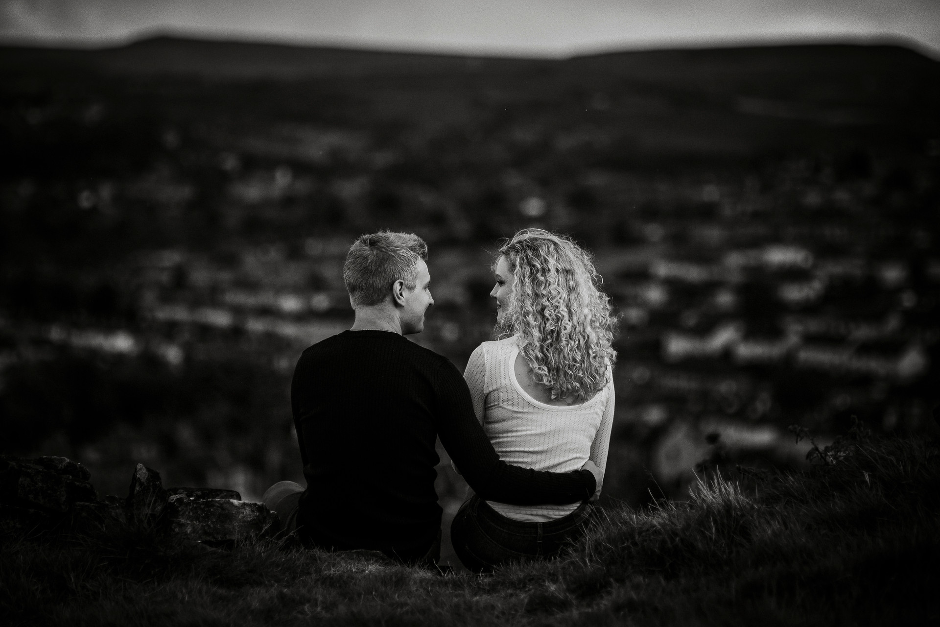 moorland engagement photography