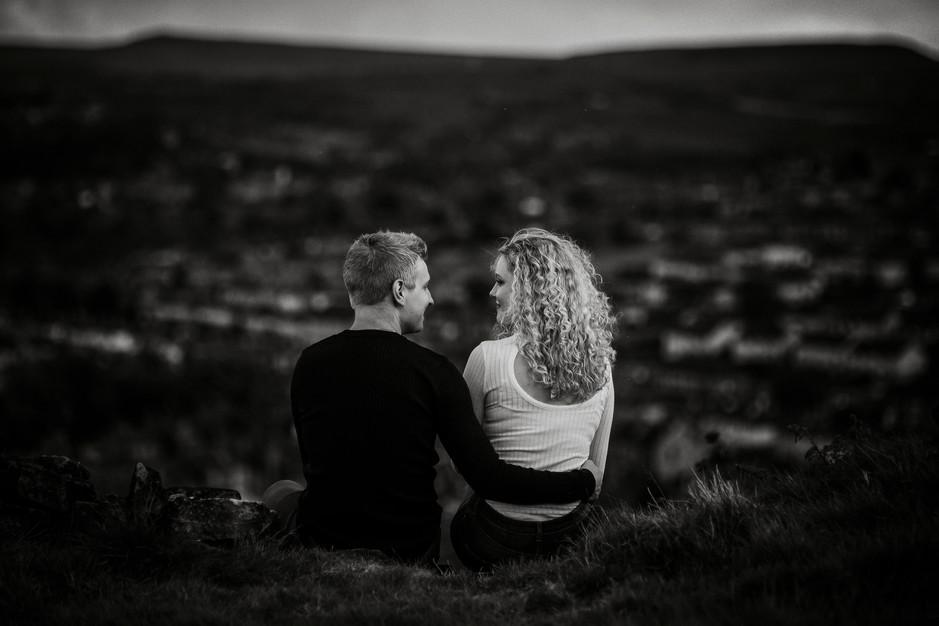moorland engagement photography