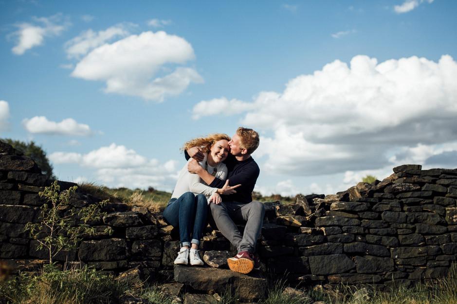 wedding photography on the pennine moors