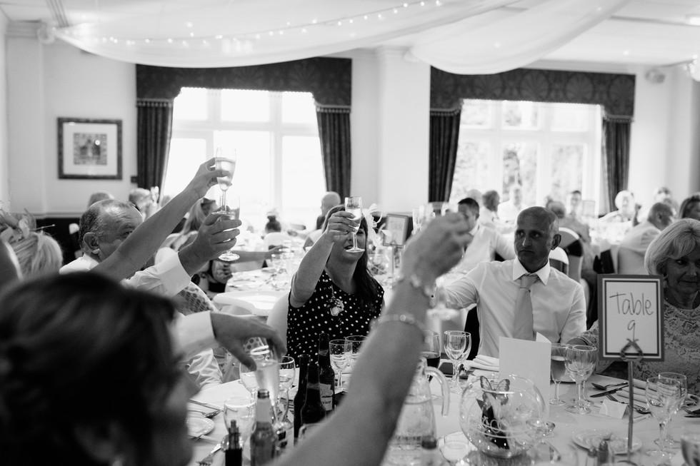 Dunkenhalgh Hotel toast