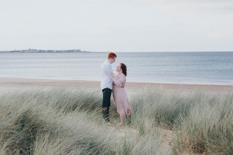whitby sand dune engagement shoot yorkshire
