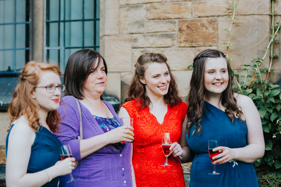 drinks on the lawn at mirfield monastery