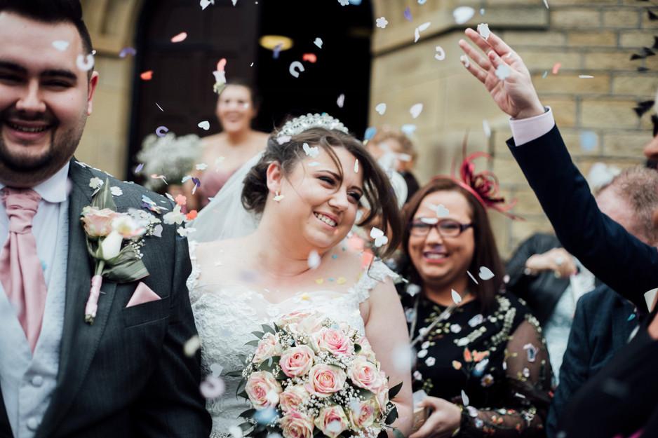 confetti wedding photographer lepton