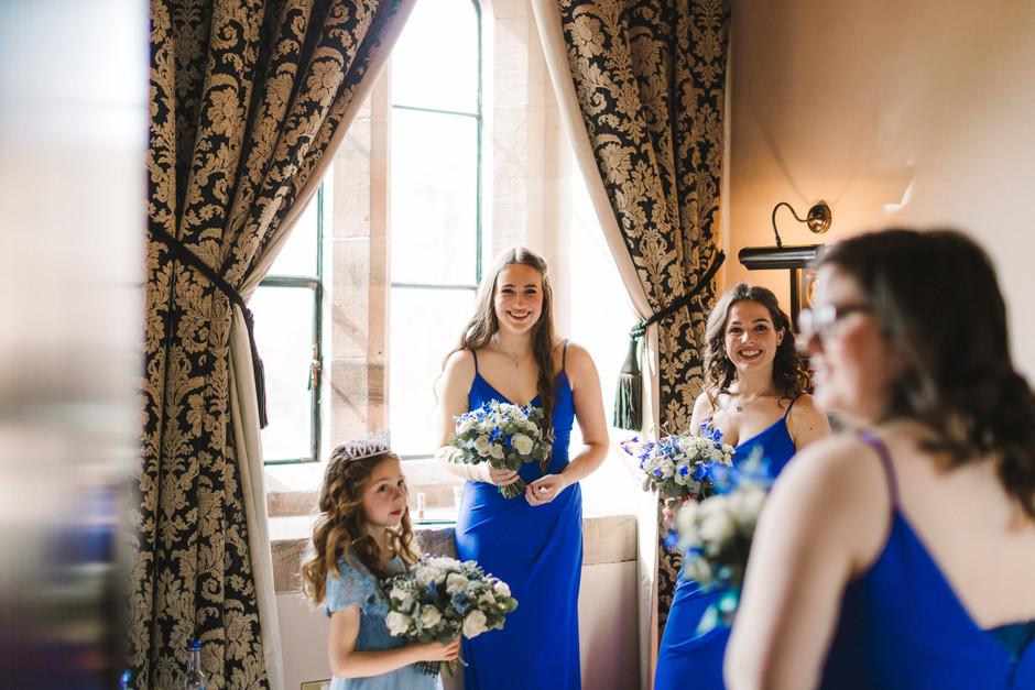 Peckforton Castle bridal prep wedding photography