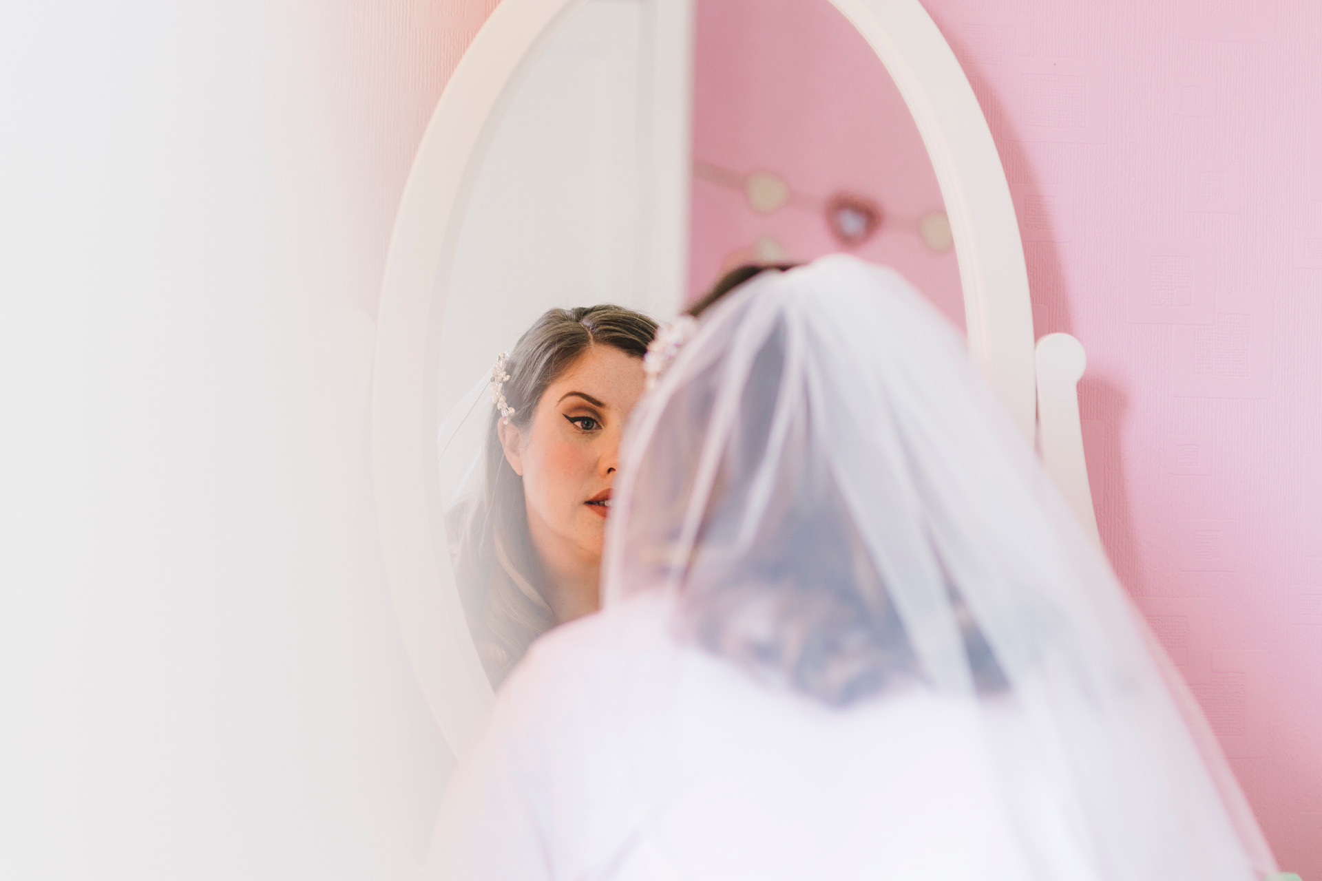 bride mirror lymm wedding