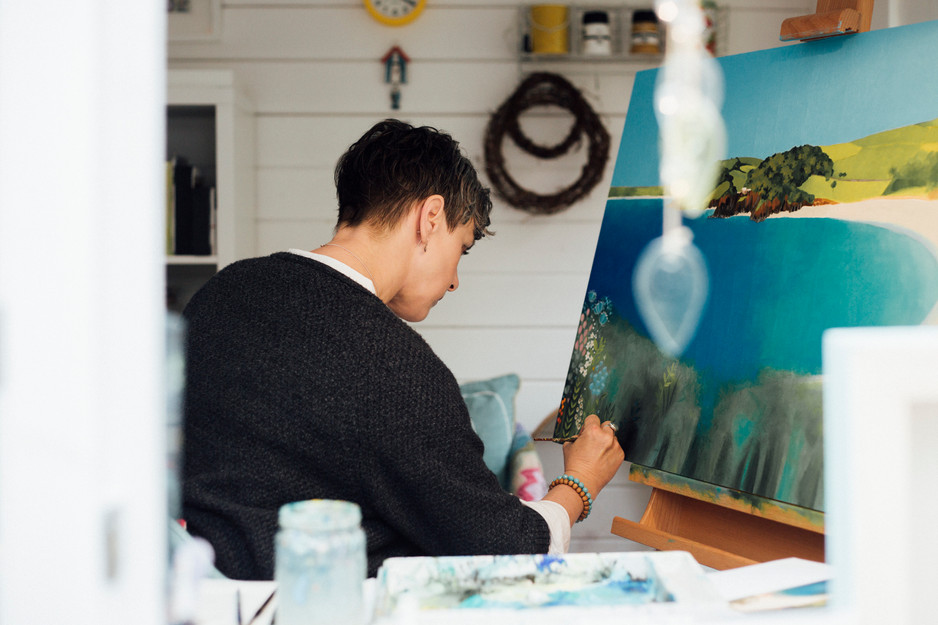 portraits of an artist in leeds