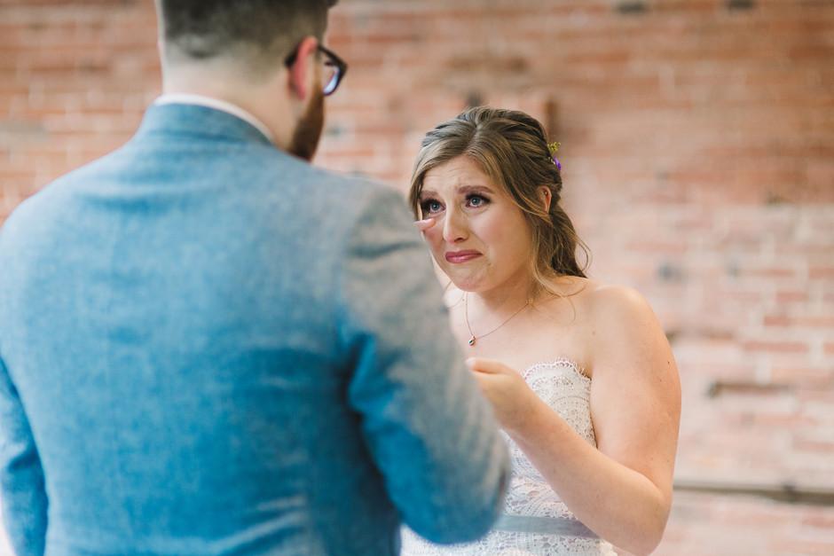 bride crying in orangery redditch