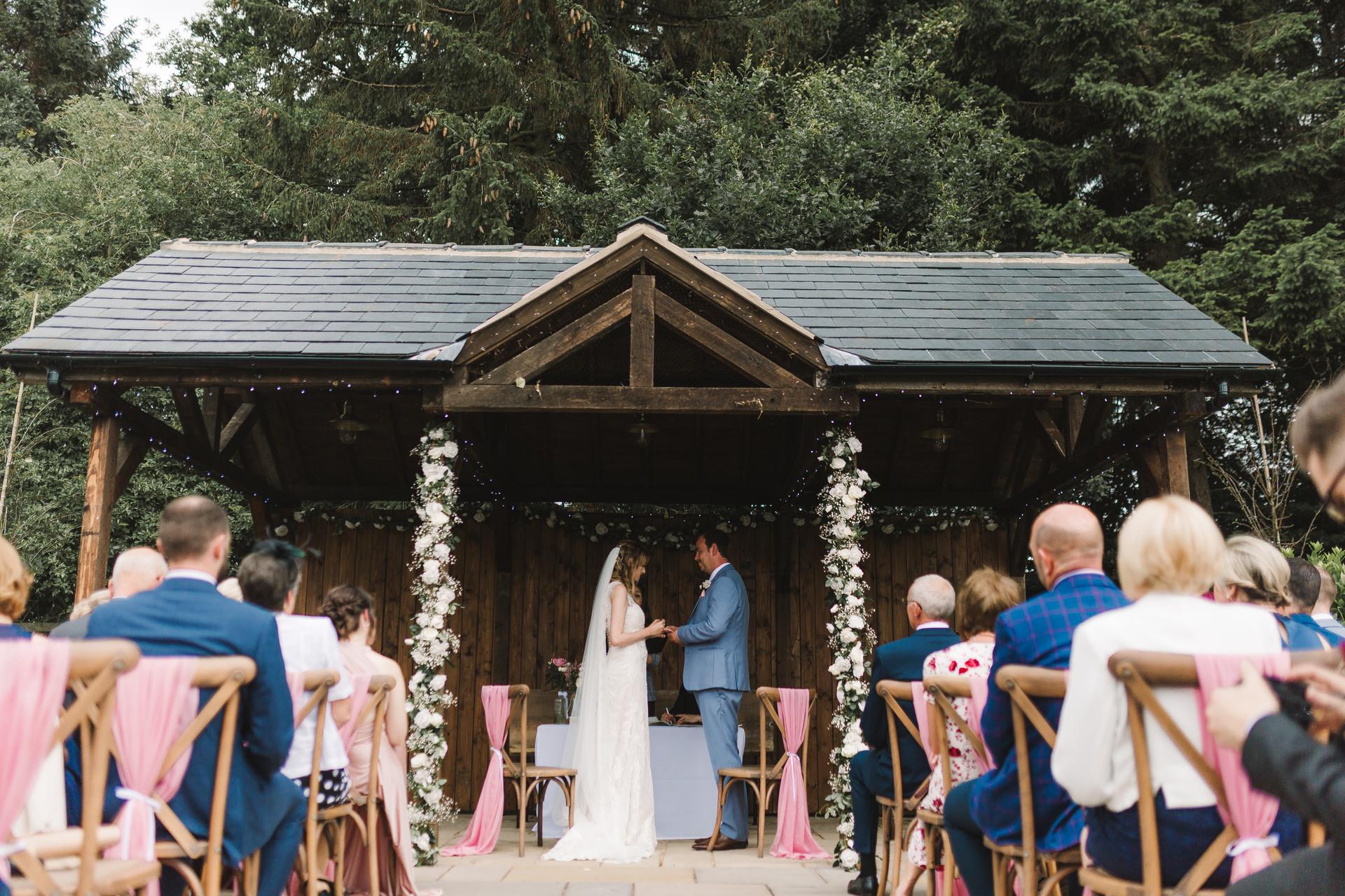 villa farm outdoor ceremony