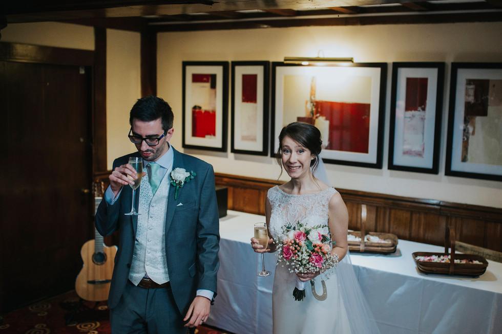bride and groom leeds mercure hotel