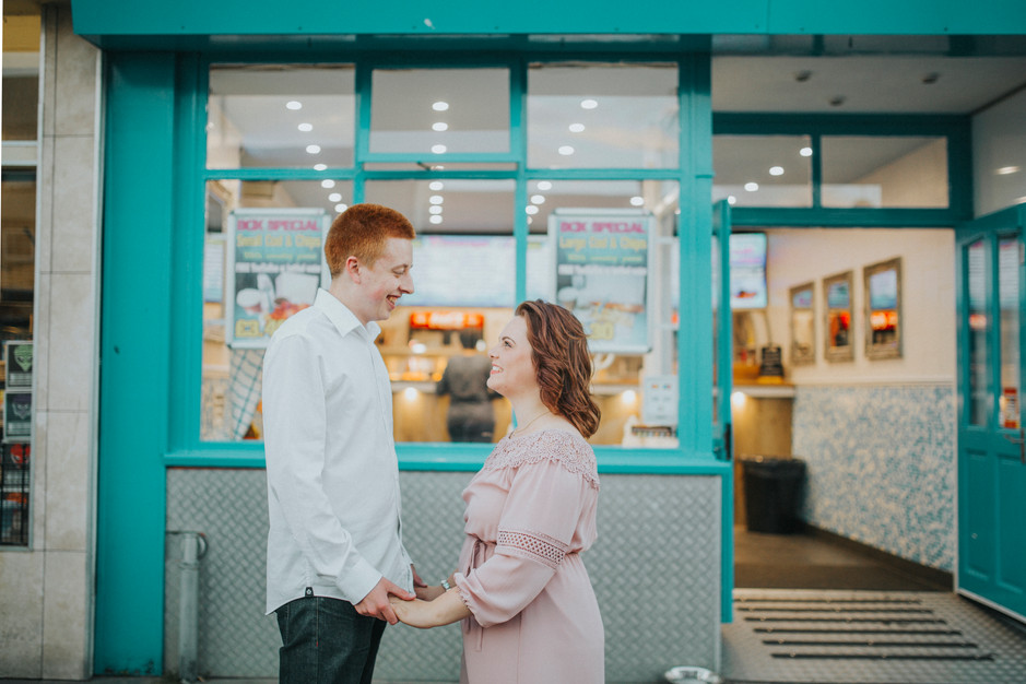 seaside engagement shoot wedding photographer