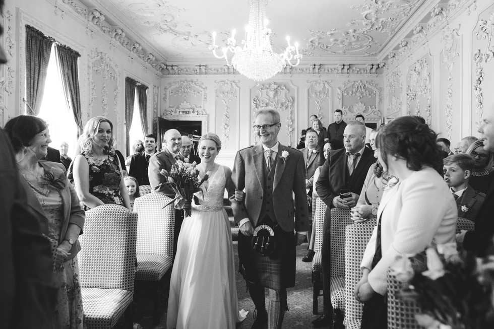 wedding photography at bridge hotel weatherby