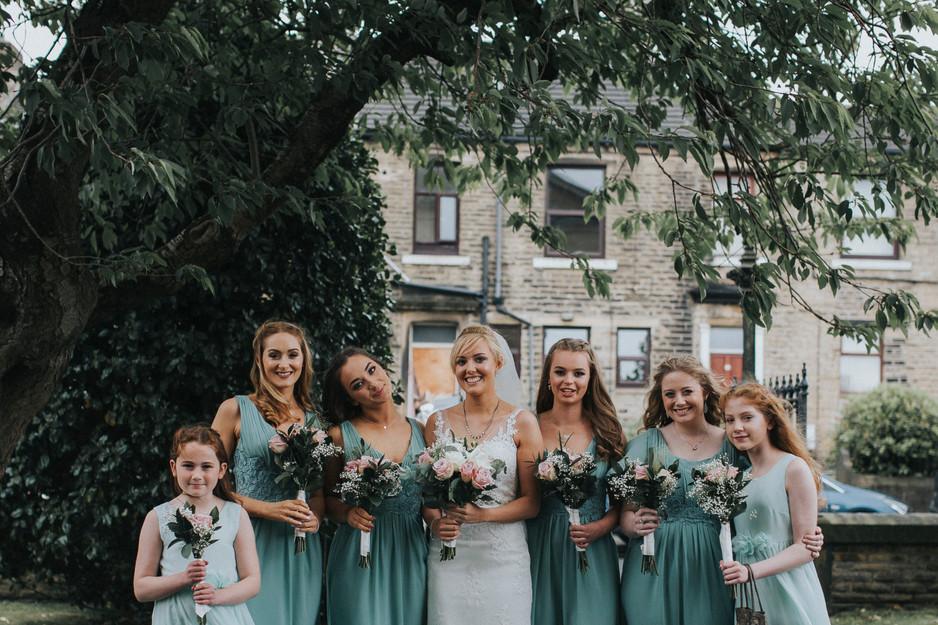 pastel bridesmaids wedding photography