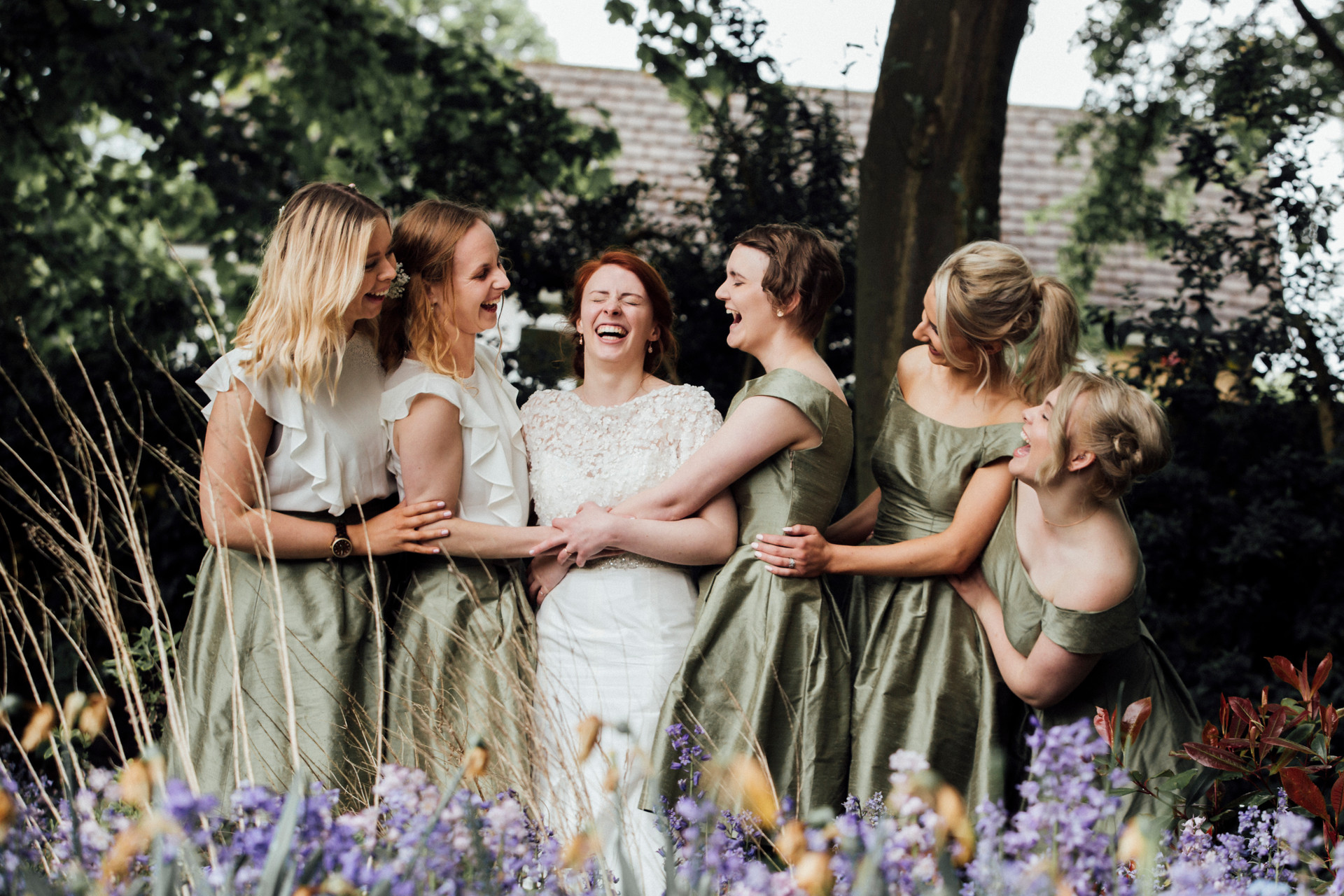 homemade bridesmaids dresses