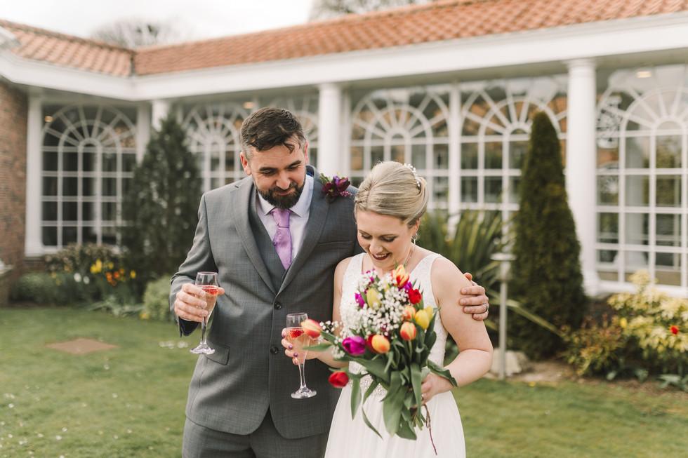 wedding photography at the bridge inn wetherby