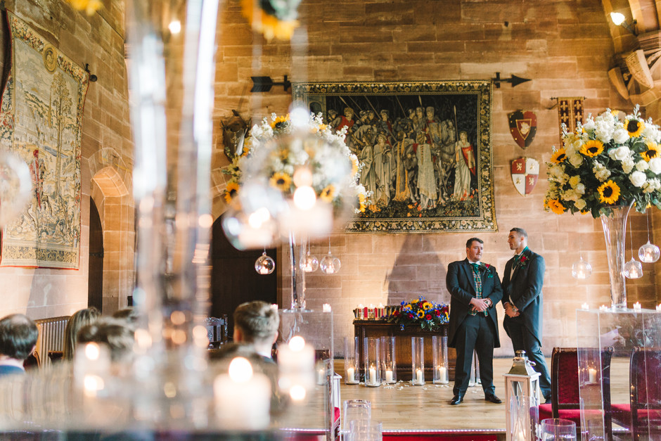 groom at peckforton castle photography