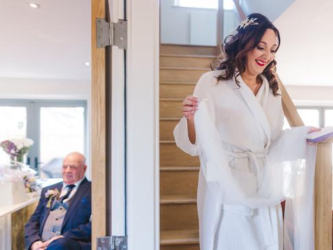 bridal prep at huddersfield wedding