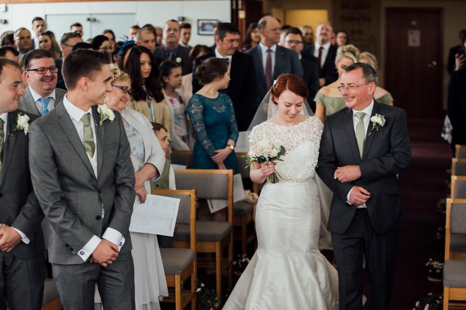 wedding photography seamstress bride