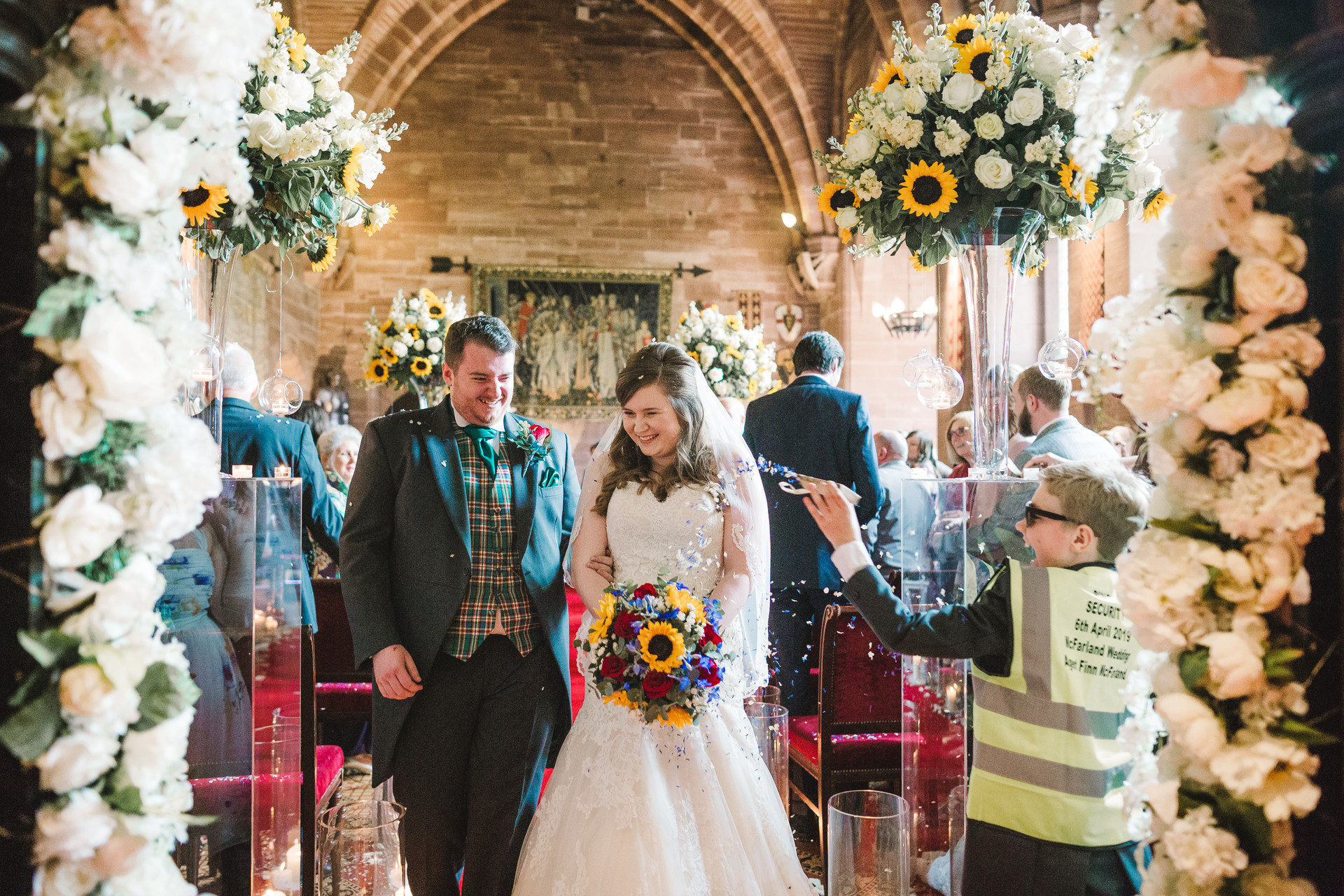 confetti at peckforton castle
