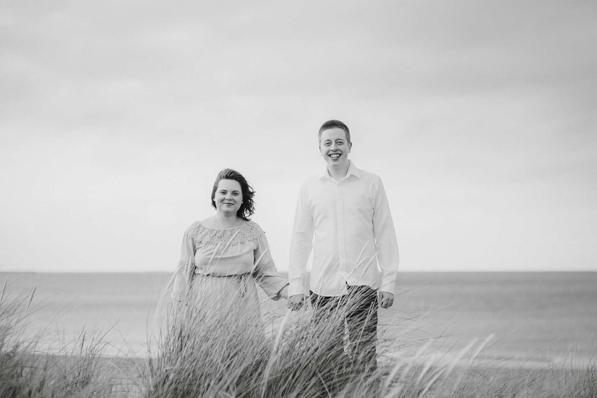 beach engagement shoot whitby