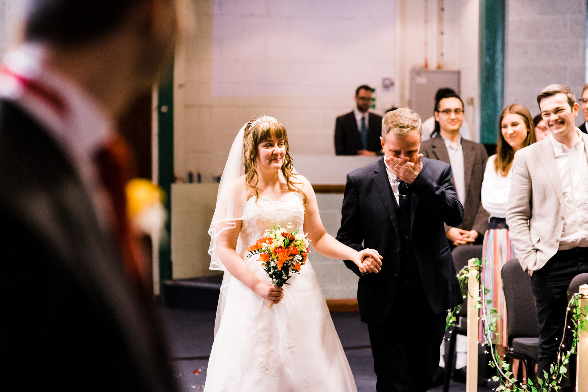 Christian wedding with workshp and prayer
