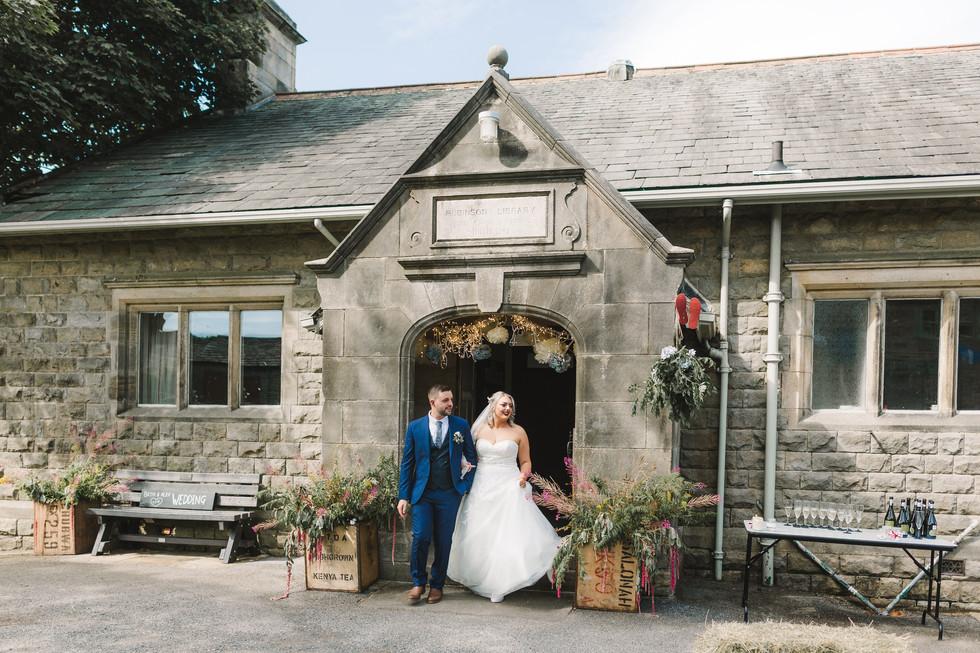 wedding at Ribinson Library Timble