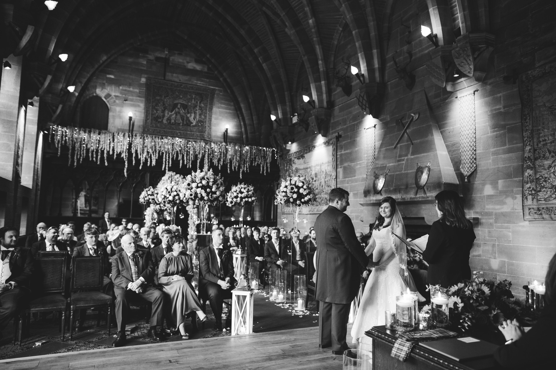 wedding photographer peckforton castle