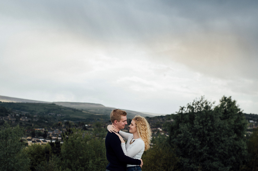 engagement photoshoot pennine moors