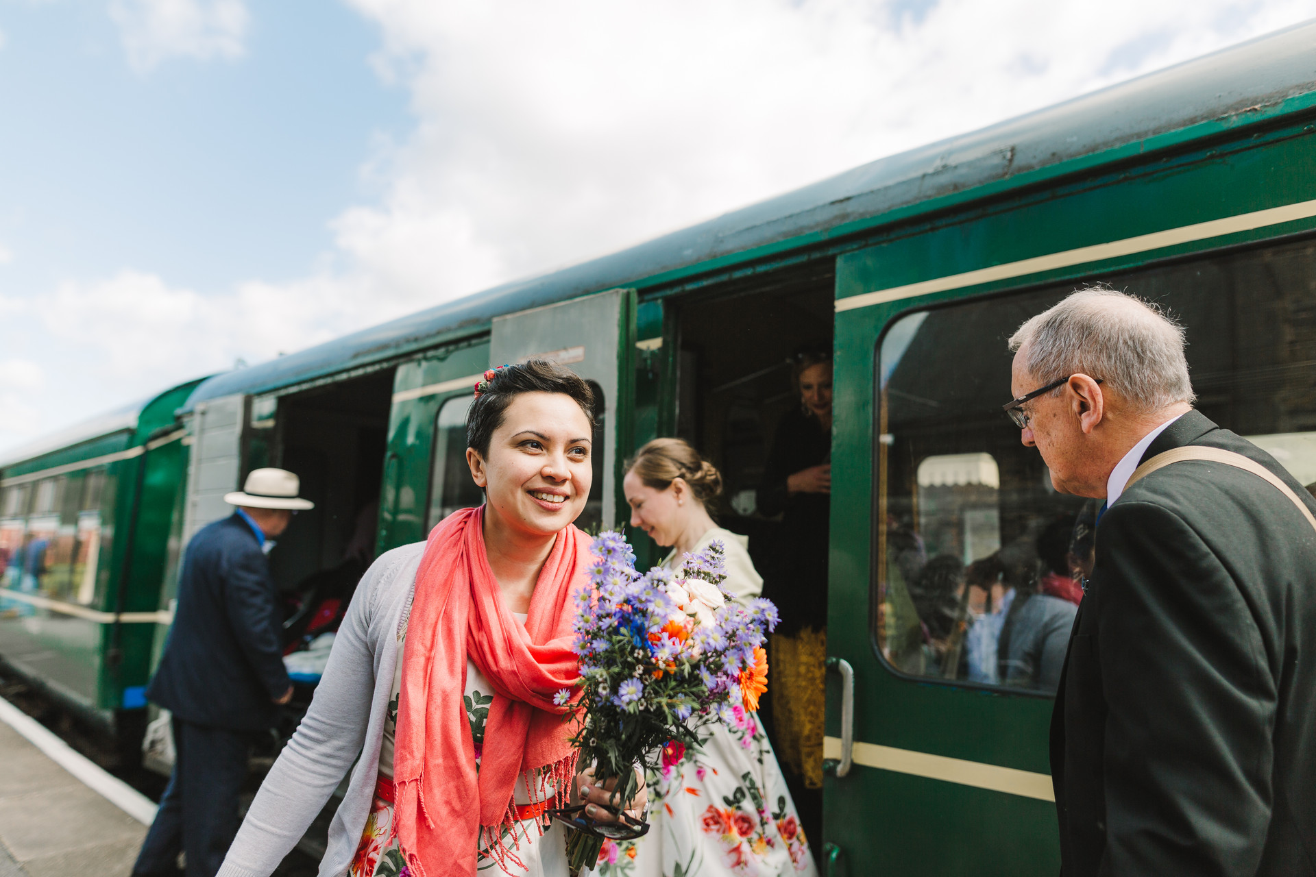 llangollen steam train wedding