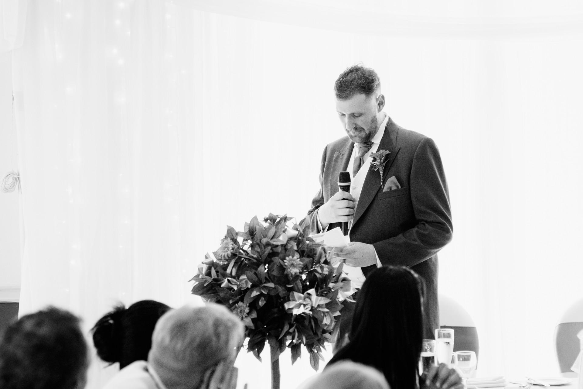 speeches at Dunkenhalgh Hotel wedding photographer