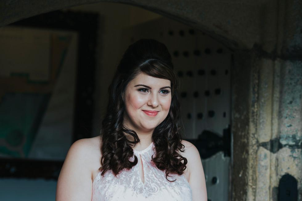 bridesmaid at holdsworth house hotel