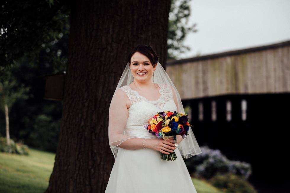 bride at shottle hall derbyshire