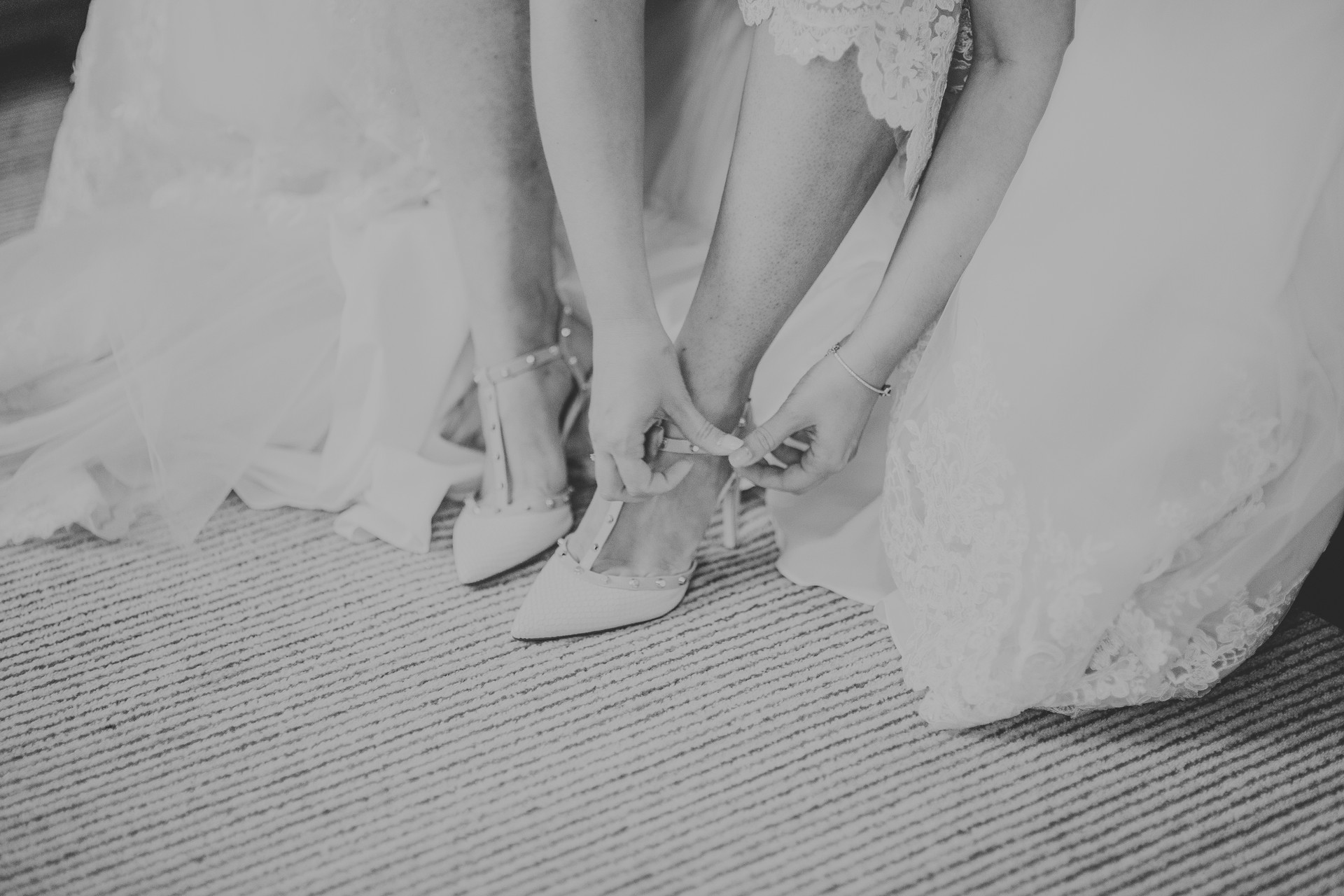 ilkley wedding photography brides shoes