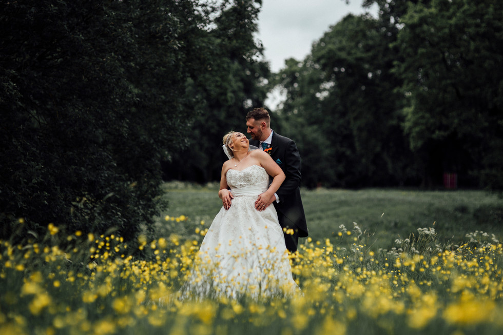 Dunkenhalgh Hotel wedding photography yellow flowers