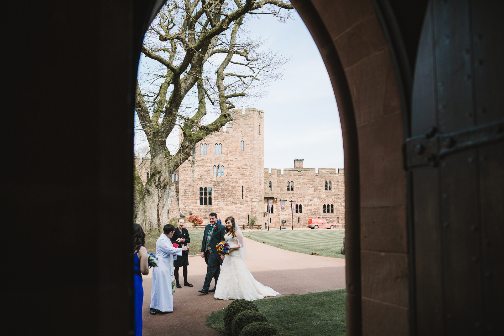 wedding photography at Peckforton Castle