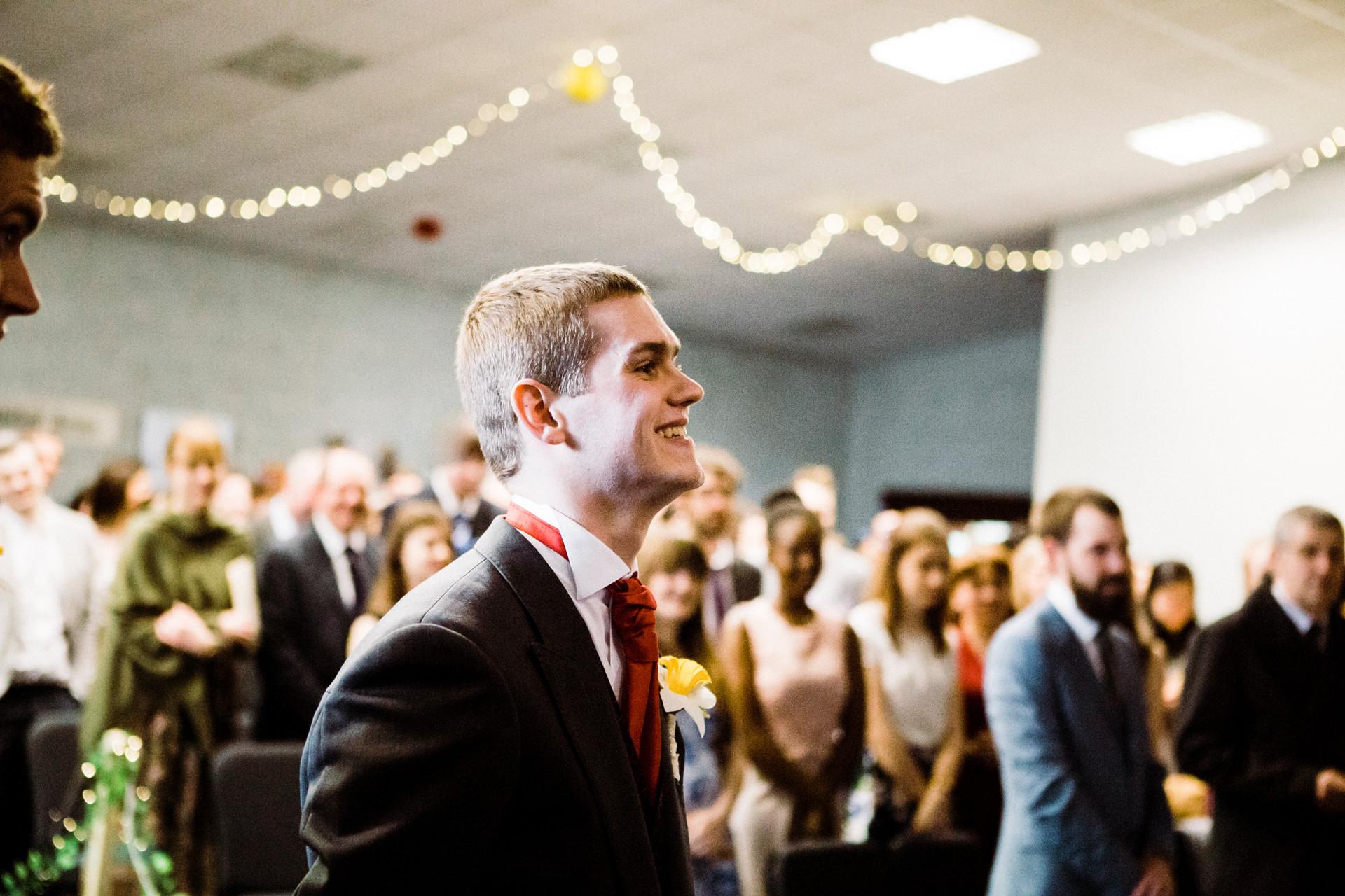 modern Christian wedding in Yorkshire