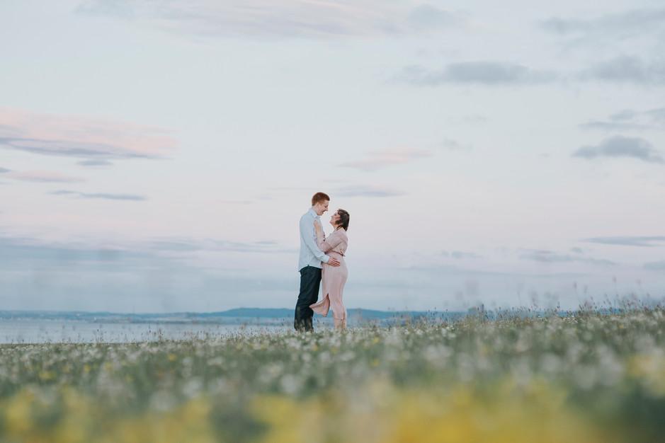 sunset seaside wedding whitby