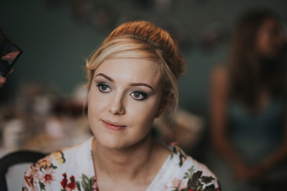 floral dressing gown wedding photographer