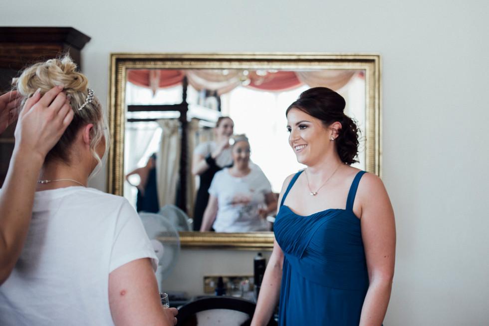 blue bridesmaid blackburn wedding photographer