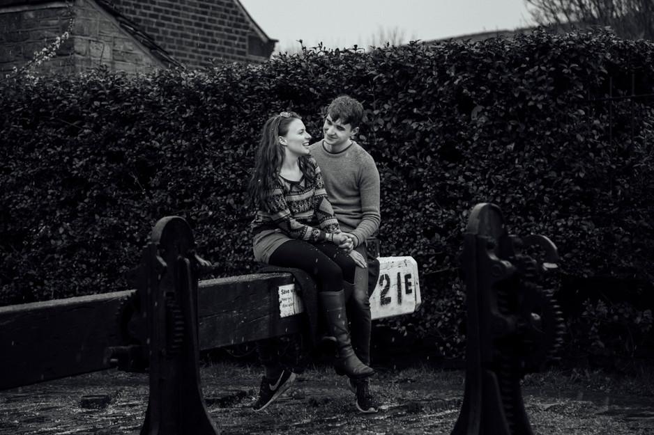 wedding photographer slaithwaite canal