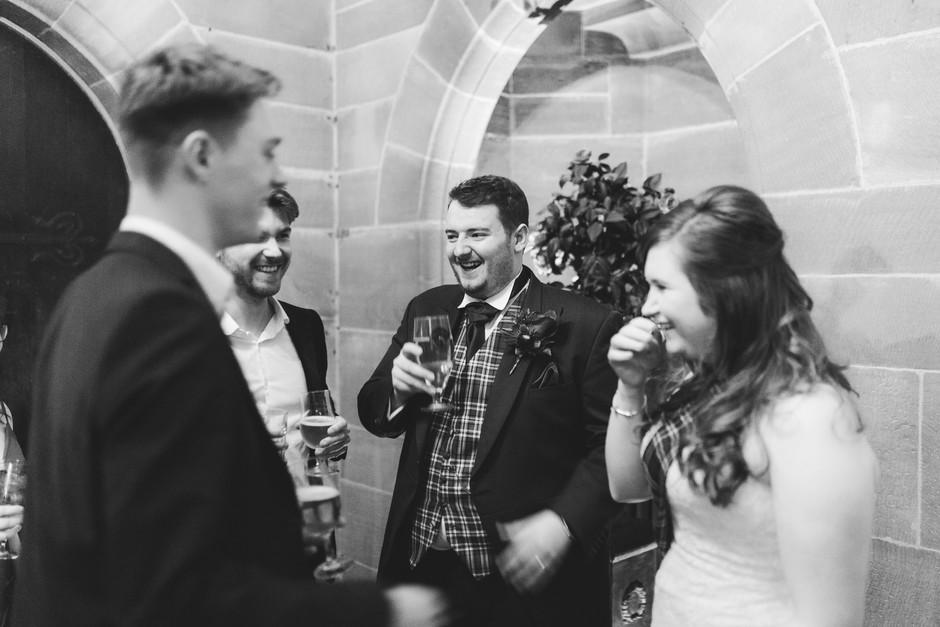 Peckforton Castle bride and groom