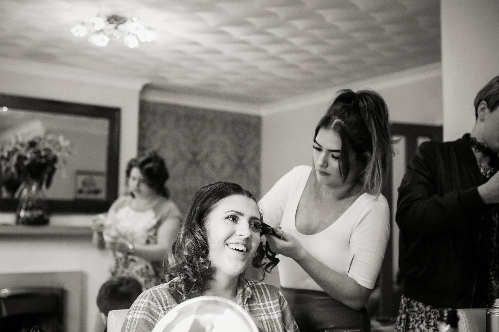 bridesmaid hair huddersfield wedding photographer