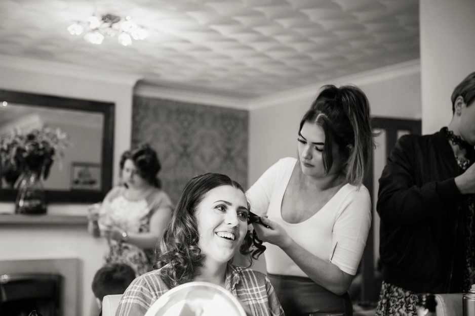 bridesmaid hair huddersfield wedding photographer