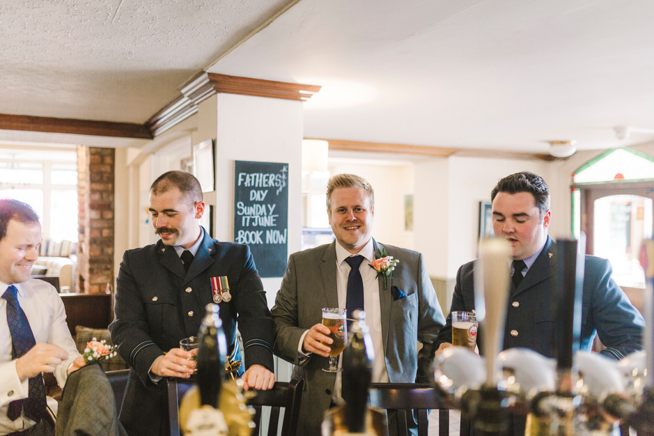 groom in pub in lymm cheshire